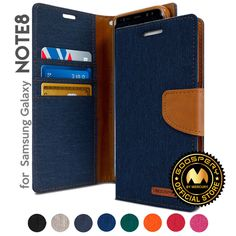 For Galaxy Note 8 Genuine MERCURY Goospery Canvas Diary Flip Case Wallet Cover