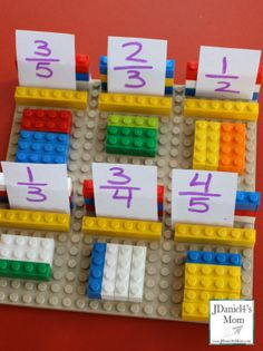 Lego Fraction Games for Kids