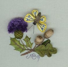 Stump work embroidery scan by rockspider8, via Flickr