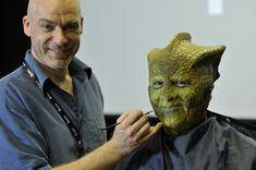 Dr Who prosthetic make-up designer Neill Gorton (owner of Millennium FX), working on Dr Who make-up