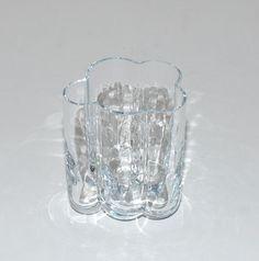 Modernist Sea Glass Sweden Pauline Glass Vase by Abundancy on Etsy, $55.00