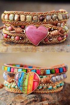 Gypsy Jewelry, Cute Jewelry, Jewelry Art, Vintage Jewelry, Jewelry Accessories, Gemstone Bracelets, Gemstone Jewelry, Beaded Jewelry, Spoon Jewelry