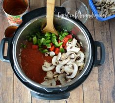 Vegetables in the spaghetti sauce using Instant Pot