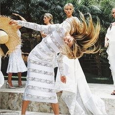 Jessica Hart performs hair flick for bridal party at pal's nuptials in St. Barts | Daily Mail Online