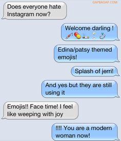 Funny Emoji Conversation