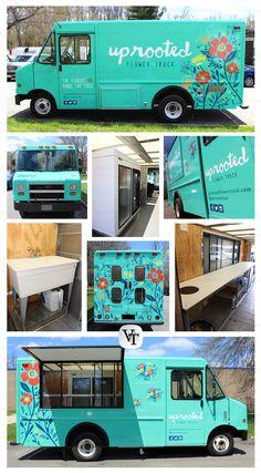 Uprooted | Mobile Florist | New York | Vending Trucks, Inc. www.vendingtrucks.com