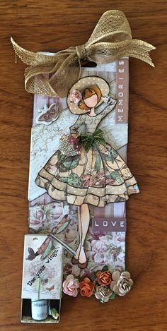 Audrey dolls stamp tag