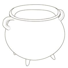 With steam cauldron coloring page .Black and white lines. Kazan, Black And White Lines, Boiler, Coloring Pages, Adobe, Hoop Earrings, Clip Art, Illustrations, Jewelry
