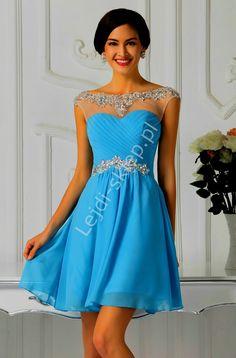 Sukienka na studniówkę w kolorze błękitnym