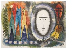 Haiti Voudou #4, 1968, Lois Mailou Jones, American (1905–1998) Watercolor and collage on paper | The Melvin Holmes Collection of African American Art