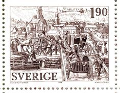 Sweden 1984 engraved by Arne Wallhorne