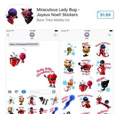 jeremy_zag Miraculous stickers available on Apple store!