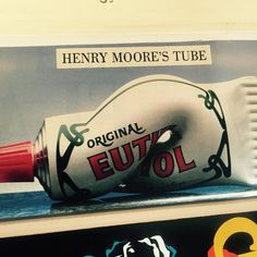 Things we love from our Scrapbook, here is #Euthymol's striking #HenryMoore #printad from...well...you tell us #inlovewith #art