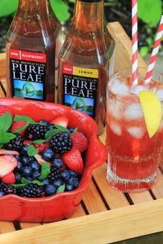 Fresh Fruit Salad with Pure Leaf Iced Tea by Noshing With The Nolands