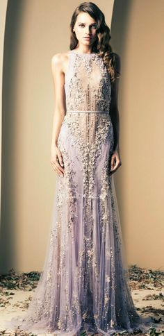 Ziad Nakad Haute Couture romantic lavender beaded lace evening gown evening gowns vestidos de i truly love this piece especially! Evening Dresses, Prom Dresses, Formal Dresses, Wedding Dresses, Dress Prom, Bridesmaid Dresses, Dresses 2014, Lace Weddings, Evening Gowns Couture