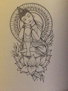 Afbeeldingsresultaat voor dessin bouddha