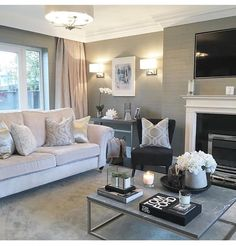 Home Decor Habitacion .Home Decor Habitacion Glam Living Room, Living Room Grey, Home And Living, Living Room Decor Elegant, Living Room Furniture Layout, Living Room Interior, Living Room Color Schemes, Living Room Designs, Sitting Room Decor