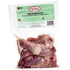 Nothing like some Primal Raw Chicken Necks for a natural source of protein, fat and calcium! Great for dogs AND cats!