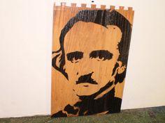 Edgar Allen Poe wood by AlexColejr on Etsy https://www.etsy.com/listing/209837985/edgar-allen-poe-wood?