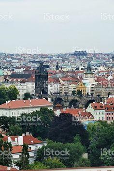 Vista dall'alto di Praga foto stock royalty-free