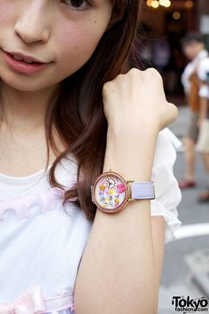 Colorful Watch With Carousel Horse & Stars