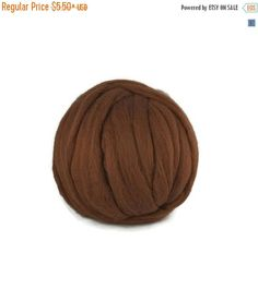 SALE Merino wool roving 19 microns ,color Bark