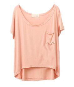 Irregular Hem Loose Modal T-shirts with Short Sleeves