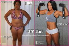 Update: Erica lost 37 pounds   Black Weight Loss Success
