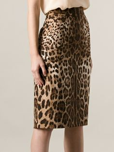 Dolce & Gabbana - Saia marrom estampada 8