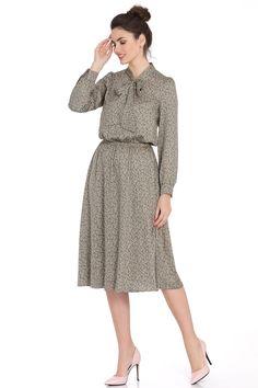 Модель 376 серый PiRS. Платье в стиле ретро из ... b1ebc298166a0