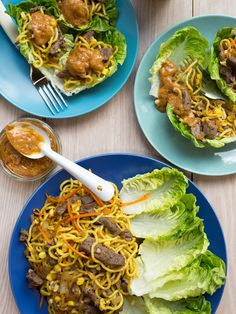 Satay Steak and Noodle Cups