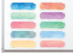 - Watercolor Labels Magnetic Accents, Decorate your whiteboard in a snap with durable, reusable magnetic decor! Add flair to any magnetic receptive . Journal Stickers, Scrapbook Stickers, Planner Stickers, Printable Stickers, Cute Stickers, Teacher Created Resources, Tumblr Stickers, Art And Illustration, Aesthetic Stickers