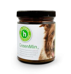 GreenMin for Dogs - all natural mineral supplement. Hannah takes 1/8 tsp