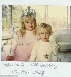 'I love you sis!' Paris Hilton shared a sweet throwback photo from sister Nicky's fourth b...