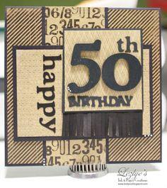 Lezlye Lauterbach, Designs: 50th Male Birthday Card-Shop Pumpkin Spice