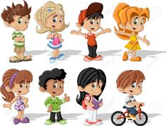 cartoon kids - بحث Google‏