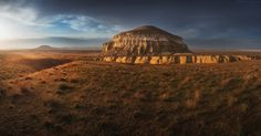 """Sherkala (""""Lion Mountain"""") in the Mangistau region, Kazakhstan"""