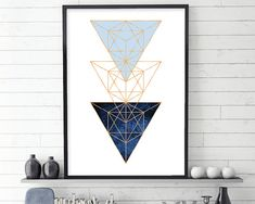 Geometric Wall Art Geometric Poster by UrbanEpiphanyPrints on Etsy