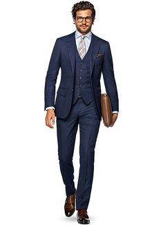 Suit Blue Check Lazio P4860i | Suitsupply Online Store