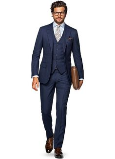 Blå Rutig Lazio P4860   Suitsupply Online Store