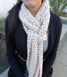 Easy puff scarf pattern