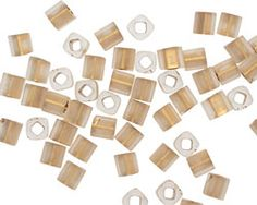 TOHO Frosted Crystal (with Gold Lining) Cube 4mm Seed Bead Lima Beads