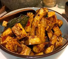 Tahu Pedas Tofu pedas is a simple dish of crispy fried tofu in a sweet and slightly spicy soy sauce Orange Recipes, Asian Recipes, Ethnic Recipes, Tilapia Recipes, Chicken Recipes, Vegetarian Cooking, Vegetarian Recipes, Indonesian Food, Indonesian Recipes