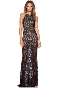 Black Open Back Maxi Evening Dress MAVERLLY