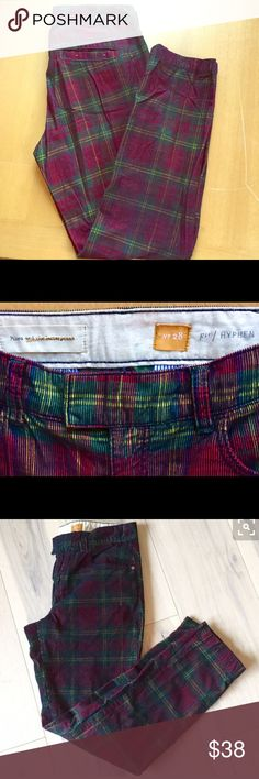 Anthropologie Pilcro and the Letterpress pants Anthropologie plaid corduroy pants. Used-in great shape! Size 28. Anthropologie Pants Straight Leg