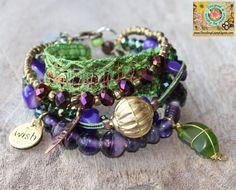CHERISH THE LOVE   Gypsy multiple strands beaded friendship bracelet in Hippie-style by DazzlingGypsyQueen, $88.00
