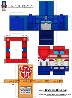 Paper Pezzy- Optimus Prime G1 by CyberDrone on DeviantArt