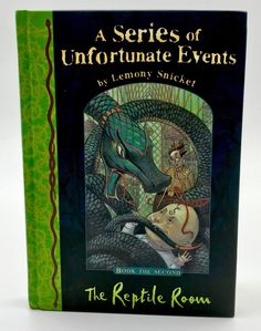 A series of unfortunate events The reptile room Lemony Snicket Second Book Lemony Snicket Books, Unfortunate Events Books, Reptile Room, Reptiles, My Ebay, Two By Two, Book Covers, Kids, Shop