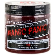 Tish Snooky's Manic Panic Semi-Permanent Hair Color Cream Ultra Violet ($11) ❤ liked on Polyvore featuring beauty products, haircare and hair color