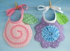 SALE  PDF ePattern for Flower Bibs by preciouspatterns on Etsy, $3.99